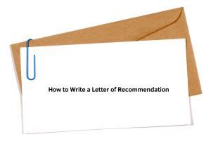 How to write a letter of recommendations